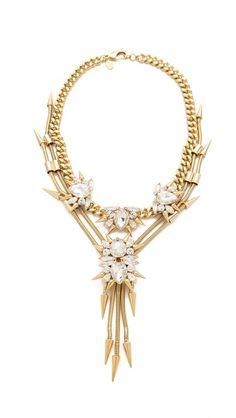 Fallon Jewelry Roswell Cluster V Necklace, $550