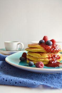 Sweet Gula: Panquecas de Requeijão com Frutos Vermelhos