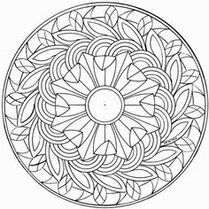 mandalas coloring page to print out and to color picture mandalas 038