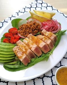 Salada com atum fresco Cobb Salad, Seafood, Low Carb, Diet, Healthy, Amanda, Portugal, 1, Potato Salad