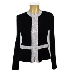 820917b51df St. Johns knit jacket with rhinestones and zipper front....on ebth