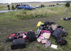 This photo shows the luggage which belonged to some of the victims of the MH 17 crash.