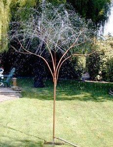 Rain tree sprinklers made from copper pipes ~    http://www.squidoo.com/raintree-sprinklers