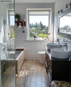 Bathroom decorations and accessories ► on WestwingNow, BATHROOM IDEAS 💙 With just a few things you can transform your home bathroom into a small private spa. By choosing neutral colors, warm lights, materi. Beautiful Bathrooms, Modern Bathroom, Small Bathroom, Bad Inspiration, Bathroom Inspiration, Bathroom Renos, Bathroom Ideas, Remodel Bathroom, Bathroom Organization