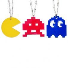 Retro Game Necklace (Space Invader, Pacman Ghost or Pacman!) no we need to find a Super Mario necklace!!
