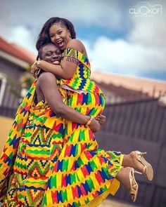 - One day my eyes took me to my crush another day my heart was carried to her as my soulmate and now I'm carrying her as my wife! Photo by Ghanaian Fashion, African Fashion, Ghana Art, Kente Styles, Kente Cloth, Wedding Day Inspiration, Pretty Patterns, African Design, African Attire