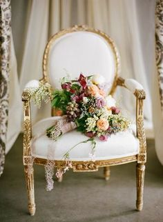 Romantic and Glamorous Berry Bouquet | Jose Villa Photography | Designer Wedding and Holiday Style from Rent the Runway!