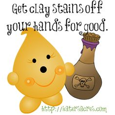 Get Rid of Clay Pigment Stains for Good by KatersAcres