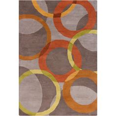Found it at AllModern - Oritz Hand Tufted Wool Warm Gray/Orange Area Rug