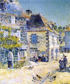 Pont-Aven, Noon Day - Frederick Childe Hassam