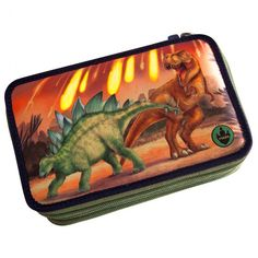 Estuche escritura triple lleno – Dino World Zip Around Wallet, Writing