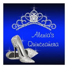 white and royal blue quinceanera invitations quinceanera invitations and quinceanera - Royal Blue Quinceanera Invitations