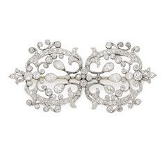 An early 20th Century belle epoque diamond brooch                                                                                                                                                                                 More