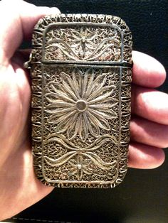 1800's Silver Calling Card Case Holder