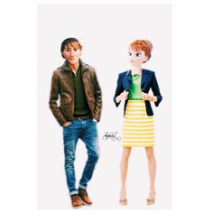 Anna Y Kristoff, Kristoff Frozen, Disney Frozen, Jack Frost, Disney Adoption, Modern Disney Characters, Disney Theory, Punk Disney, Best Disney Movies