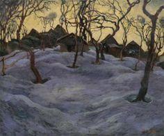 Painted by slovak artist Edmund Gwerk - slovak modern Snow, Artist, Modern, Outdoor, Google, Outdoors, Trendy Tree, Artists, Outdoor Games