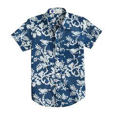 Kids' Industry of All Nations™ batik shirt : short-sleeve shirts   J.Crew
