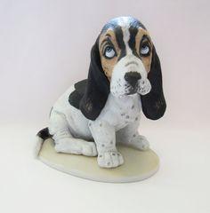 Basset Hound Puppy Figurine Homco Masterpiece by TreasureMenagerie