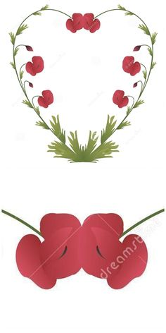 Illustration about Heart shape made of poppy flowers and leafs. Illustration of concept, confession, design - 52856528 Graphic Design Illustration, Illustration Art, Illustrations, Poppy Flowers, Mothersday Cards, Heart Shapes, Poppies, Valentines Day, Concept