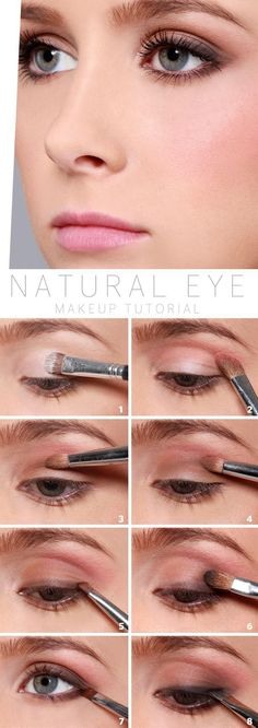 1. Begin by preparing your eyes with a creme base coat eyeshadow. Apply to the full eyelid with an applicator brush 2. Now at the crease of the eyeli