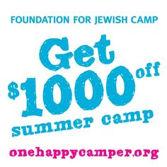 Have you heard about the One Happy Camper grant? Your camper could receive 1,000 dollars off his/her first summer of camp.