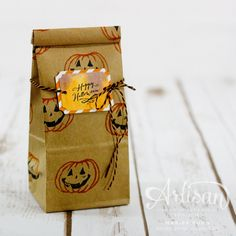 Simple Treat Containers featuring Jar of Haunts from Stampin' Up! by Marisa Gunn