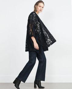 Bilde 1 fra LANG BLAZER MED BRODERING fra Zara