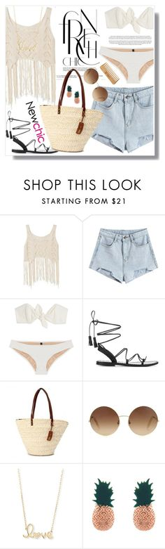 """""""No 425:Summer Vacation #newchic"""" by lovepastel ❤ liked on Polyvore featuring Lisa Marie Fernandez, Anine Bing, Victoria Beckham, Sydney Evan, Aamaya by priyanka, The Body Shop, chic, New and newchic"""