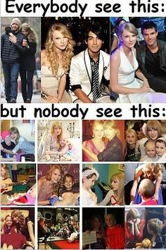 Exactly!!!! All the people saying Taylor get's a boyfriend like every five seconds just need to be quiet!! And when us Swifties say Taylor's our role model they then say 'So you want to grow up and date a bunch of guys?' No, we want to grow up and be a beautiful and elegant person just like Taylor. So just shut up haters!