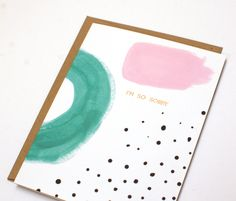 Abstract Sympathy Card - Copper Foil