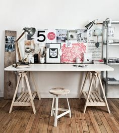 Creëer je eigen bureau met behulp van schragen - Roomed   roomed.nl