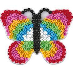 plaque perles à repasser papillon - Recherche Google