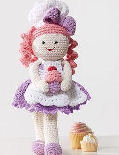#crochet, free pattern, amigurumi, doll Bakerlily, yarnspirations, stuffed toy, #haken, gratis patroon (Engels), pop bakerlily, meisje, knuffel, speelgoed, #haakpatroon