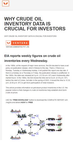 """Crude Oil inventory data crucial for Investors #Commodities #Commodity """"FEATURED POST""""  http://venturacommodities.com/blog/2014/08/crude-oil-inventory-data-crucial-investors"""