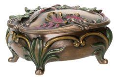 Art Nouveau Collectible Spring Box Container Sculpture