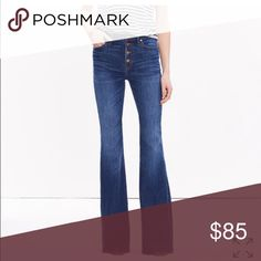 Madewell flea market button flare jeans Worn once. Madewell Jeans Flare & Wide Leg