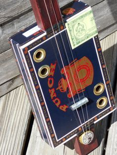 Electric 3 string cigar box guitar by OlBoyCigarBoxGuitars on Etsy, $65.00