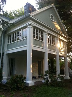 Exterior House Renovation // Ardmore, PA // After // Pillars and Windows