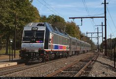 High quality photograph of NJ Transit # NJT 4528 at Stirling, New Jersey, USA. Commuter Train, Electric Train, Ho Trains, Stirling, Long Distance, New Jersey, Transportation, Explore, Landscape