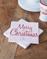 Merry Christmas Paper Napkin - Rivièra Maison - Papieren servet