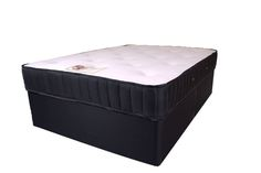 """6ft Memory Royal Divan Set - £689.95 - This lovely divan bed features a medium tension """"no turn"""" spring system with a deep layer of visco elastic memory foam on the sleeping surface and then covered in a super soft deluxe knitted fabric. Hand tufted with soft felt tufts for comfort.  The mattress is vented for superior air circulation and cooling properties.  The divan base is constructed with a timber frame and upholstered in a matching colour fabric."""