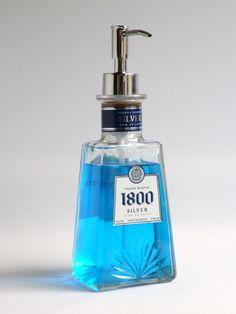 alcohol bottle soap dispensers :)
