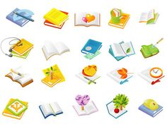 Cute cartoon vector book icon download