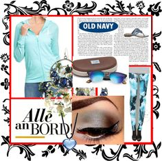 """Old Navy tee hoodie Blue"" by kitty-wasch on Polyvore"