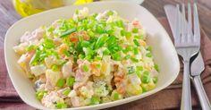 15 recettes minceur à faire avec un simple pot de yaourt Raw Food Recipes, Salad Recipes, Cooking Recipes, Healthy Recipes, Easy Cooking, Healthy Cooking, Healthy Eating, Gourmet Salad, Salty Foods
