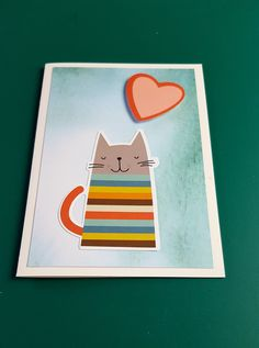 Greeting cards with cute cats - not only for crazy cat people craft girls Karten Diy, Homemade Gifts, Cute Cats, Paper Art, Stampin Up, Birthday Cards, Kindergarten, Crafts For Kids, Card Making