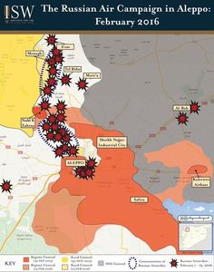 A very good map showing how Russian airstrikes are helping their YPG comrades in Northern Aleppo