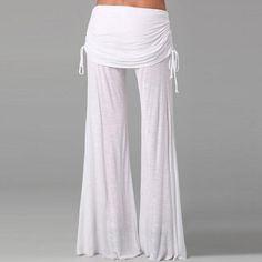 Women Wide Leg Pants High Waist Flare Dance Pants Trousers For Women Pantalones Mujer Pantskirt Loose Long Harem Danling Pants Dance Pants, Yoga Pants, Women's Pants, White Wide Leg Pants, Pantalon Large, Joggers Womens, Loose Pants, Sport Pants, Flare Pants