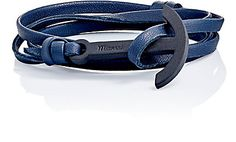 """We Adore: The """"Modern Anchor"""" On Leather Wrap Bracelet from Miansai at Barneys…"""