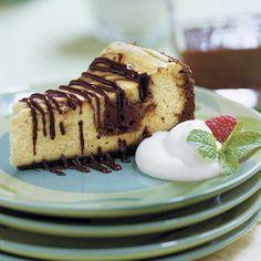 Chocolate-Coffee Cheesecake With Mocha Sauce Recipe | MyRecipes.com